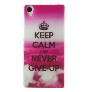 Ultratenký gelový obal na mobil Sony Xperia Z3 - Keep Calm - 1