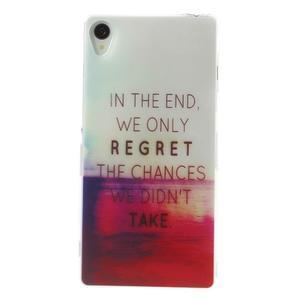 Ultratenký gelový obal na mobil Sony Xperia Z3 - regret - 1