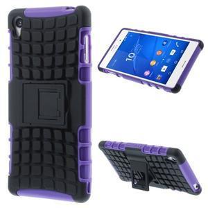 Outdoor ochranný kryt na mobil Sony Xperia Z3 - fialový - 1