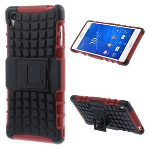 Outdoor ochranný kryt na mobil Sony Xperia Z3 - červený - 1