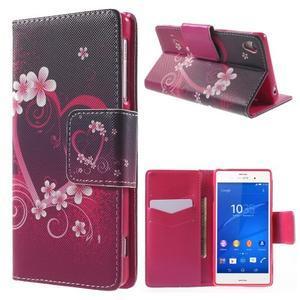 Emotive peněženkové pouzdro na Sony Xperia Z3 - srdce - 1