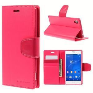 Sonata PU kožené pouzdro na mobil Sony Xperia Z3 - rose - 1