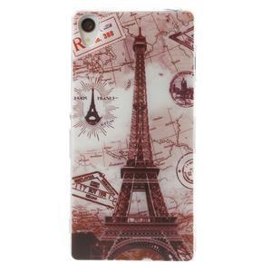 Ultratenký gelový obal na mobil Sony Xperia Z3 - Eiffelova věž - 1