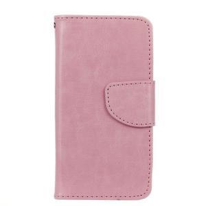 Hoor PU kožené pouzdro na mobil Samsung Galaxy A3 (2016) - růžové - 1