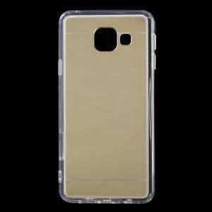 Zrcadlový gelový kryt na Samsung Galaxy A3 (2016) - zlatý - 1