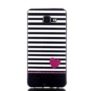 Style gelový obal na mobil Samsung Galaxy A3 (2016) - srdíčko - 1