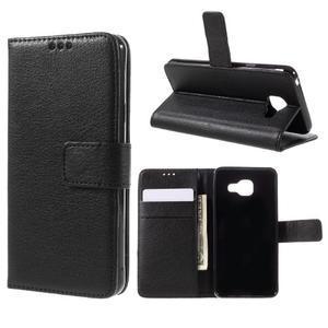 Liched koženkové pouzdro na Samsung Galaxy A3 (2016) - černé - 1