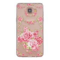Slim průhledný gelový obal na Samsung Galaxy A3 (2016) - růže - 1/4
