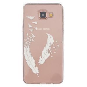 Slim průhledný gelový obal na Samsung Galaxy A3 (2016) - peříčka - 1
