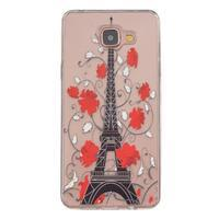 Slim průhledný gelový obal na Samsung Galaxy A3 (2016) - Eiffelova věž - 1/4