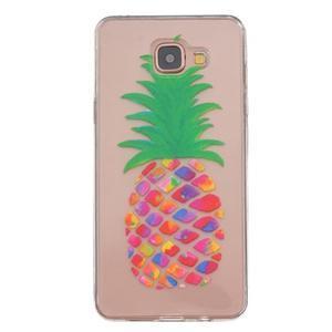 Slim průhledný gelový obal na Samsung Galaxy A3 (2016) - ananas - 1