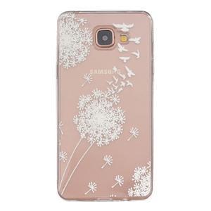 Slim průhledný gelový obal na Samsung Galaxy A3 (2016) - pampeliška - 1