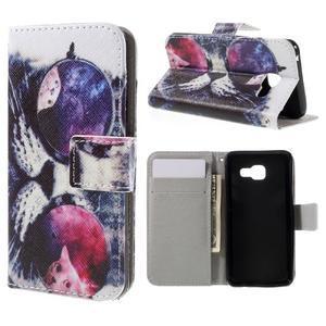 Standy peněženkové pouzdro na Samsung Galaxy A3 (2016) - cool kočka - 1