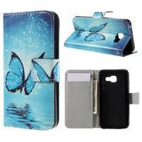Standy peněženkové pouzdro na Samsung Galaxy A3 (2016) - motýl - 1/7