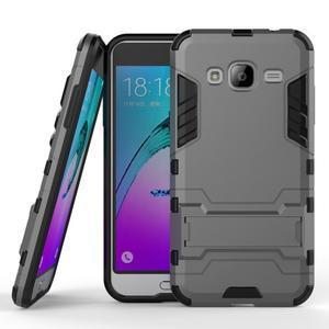 Outdoor odolný obal na Samsung Galaxy J3  (2016)- šedé - 1