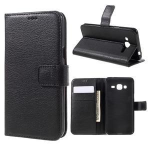 Peněženkové pouzdro na mobil Samsung Galaxy J3 (2016) - černé - 1