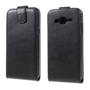 Flipové pouzdro na mobil Samsung Galaxy J3 (2016) - černé - 1