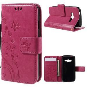 Butterfly pouzdro na mobil Samsung Galaxy Trend 2 Lite - rose - 1