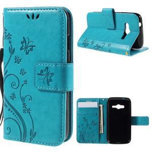 Butterfly pouzdro na mobil Samsung Galaxy Trend 2 Lite - modré - 1