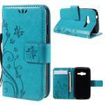 Butterfly pouzdro na mobil Samsung Galaxy Trend 2 Lite - modré - 1/7