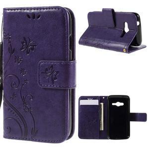 Butterfly pouzdro na mobil Samsung Galaxy Trend 2 Lite - fialové - 1
