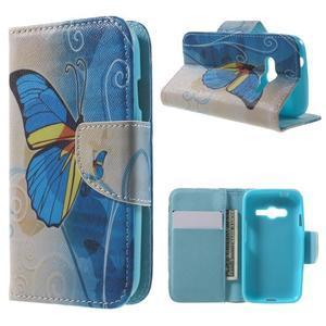 Motive pouzdro na mobil Samsung Galaxy Trend 2 Lite - modrý motýl - 1