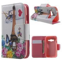 Motive pouzdro na mobil Samsung Galaxy Trend 2 Lite - Eiffelka a květiny - 1/7