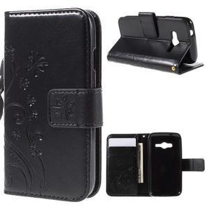 Butterfly pouzdro na mobil Samsung Galaxy Trend 2 Lite - černé - 1