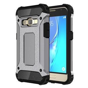 Armory odolný obal na mobil Samsung Galaxy J1 (2016) - šedý - 1