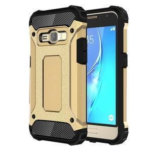 Armory odolný obal na mobil Samsung Galaxy J1 (2016) - zlatý - 1