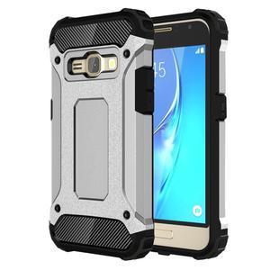 Armory odolný obal na mobil Samsung Galaxy J1 (2016) - stříbrný - 1