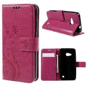 Butterfly koženkové pouzdro na Microsoft Lumia 550 - rose - 1