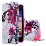 Stylové pouzdro na mobil Huawei Ascend Y550 - květy - 1/5