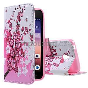 Stylové pouzdro na mobil Huawei Ascend Y550 - kvetoucí větvička - 1