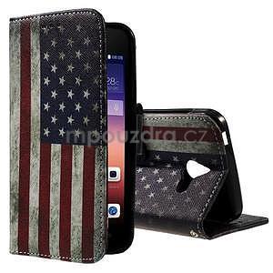 Stylové pouzdro na mobil Huawei Ascend Y550 - US vlajka - 1