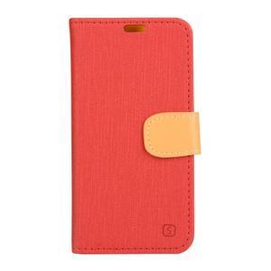 Knížkové pouzdro na mobil Lenovo Vibe Shot - červené - 1