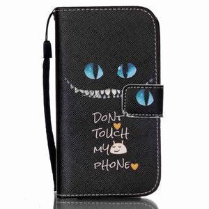 Peněženkové pouzdro na Samsung Galaxy S4 Mini - do not touch - 1