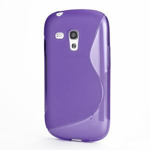 Fialové gelové pouzdro pro Samsung Galaxy S3 mini /i8190 - 1