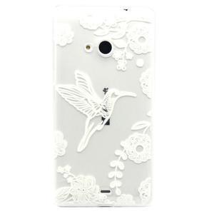Gelový obal na mobil Microsoft Lumia 535 - ptáček - 1