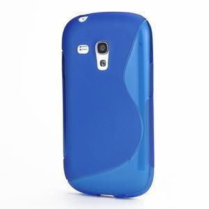 Modré gelové pouzdro pro Samsung Galaxy S3 mini /i8190 - 1