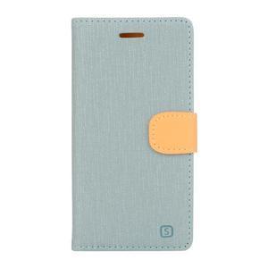 Cloth textilní/koženkové pouzdro na mobil Lenovo P70 - světlemodré - 1