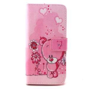 Peneženkové pouzdro na mobil LG G4c - medvídek - 1