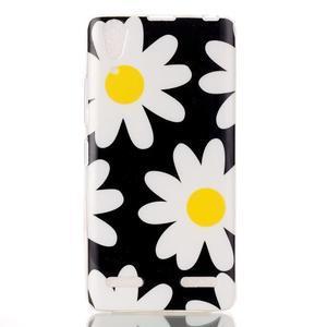 Gelový obal na mobil Lenovo A6000 - květy - 1
