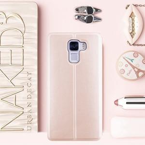 Elegantní PU kožené pouzdro na mobil Huawei Honor 7 - rose gold - 1