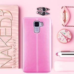 Elegantní PU kožené pouzdro na mobil Huawei Honor 7 - růžové - 1