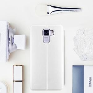 Elegantní PU kožené pouzdro na mobil Huawei Honor 7 - bílé - 1