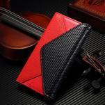 Breck peněženkové pouzdro na Samsung Galaxy S6 - červené/černé - 1/5