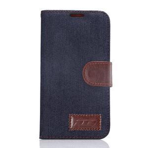 Cloth peněženkové pouzdro pro Samsung Galaxy S6 - černé - 1