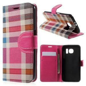 Módní stylové pouzdri na Samsung Galaxy S6 - rose - 1