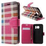 Módní stylové pouzdri na Samsung Galaxy S6 - rose - 1/7